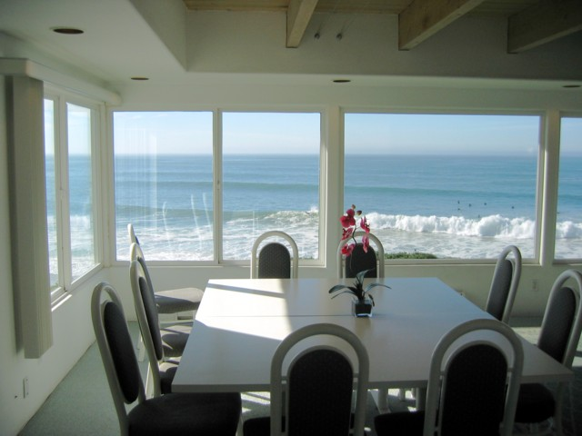 Ocean view from table