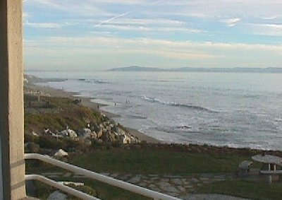 Monterey Bay to the southeast. View is of Monterey and Pleasure Point.